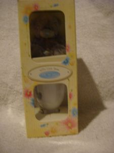 Me To You  Tatty Teddy egg cup 3inch bear With Love from easter.